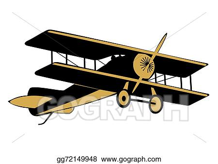 Eps Illustration Vintage Airplane Vector Clipart Gg72149948