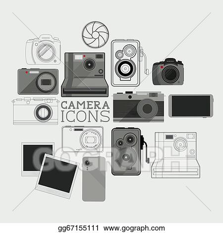Vintage And Modern Camera Set