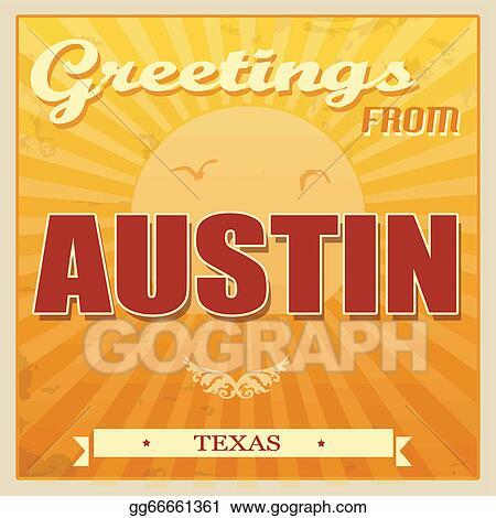 Vector clipart vintage austin texas poster vector illustration vintage austin texas poster m4hsunfo