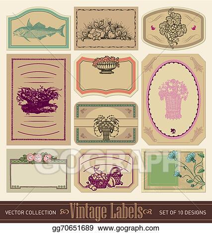 Vector Illustration - Vintage blank labels set (vector)  EPS