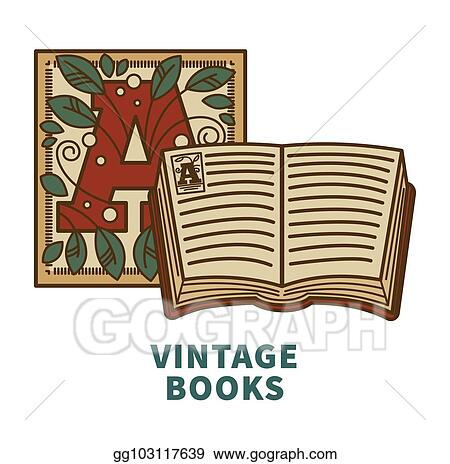 Vector Illustration - Vintage book vector icon with cover letter ...