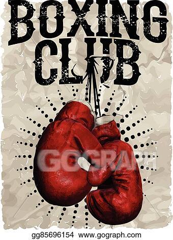 vector art vintage boxing gloves vector illustration template for