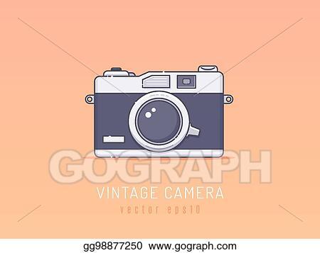 Camera Vintage Vector Free : Vector clipart vintage camera. vector illustration gg98877250