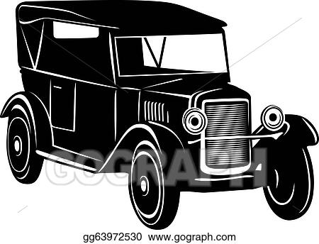 vector art vintage car of 1920s years clipart drawing gg63972530 rh gograph com 1920s flapper clipart 1920s art deco free clip art