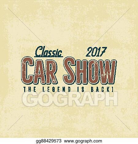 Vector Clipart - Vintage car show typography label design