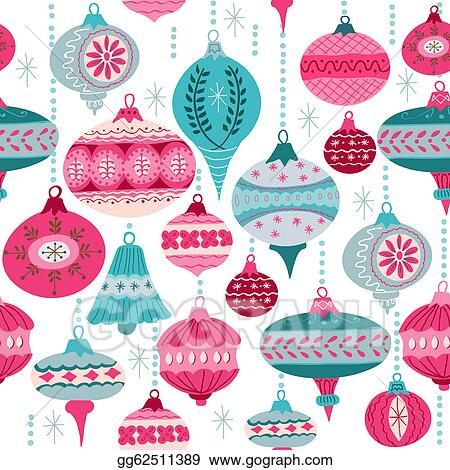 vintage christmas background with christmas tree balls for design and scrapbook in vector