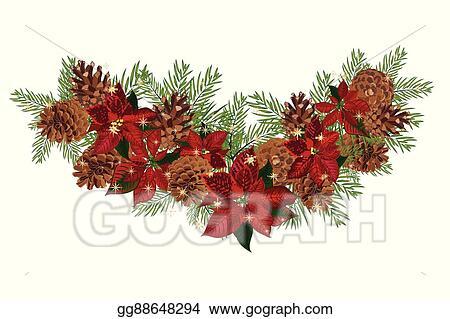 Christmas Tree Square Garland Clip Art Pine Cone Image Provided - EpiCentro  Festival