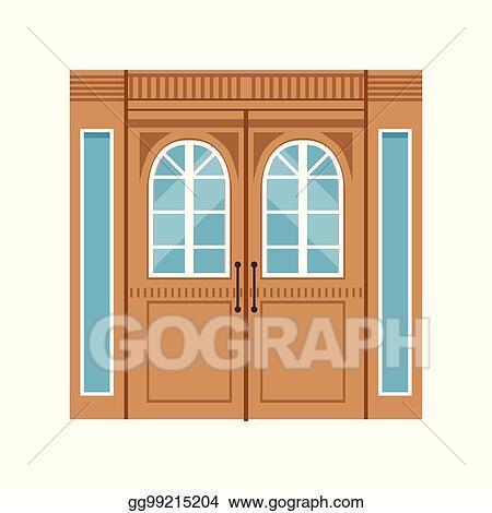 Elegant front doors Metal Vintage Double Wooden Doors Closed Elegant Front Door Vector Illustration Better Homes And Gardens Vector Art Vintage Double Wooden Doors Closed Elegant Front Door