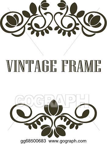 Vintage frame border design Pink Vintage Frame Border Elements Gograph Vector Clipart Vintage Frame Border Elements Vector Illustration