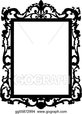 vector clipart vintage frame vector vector illustration rh gograph com vintage photo frame clipart vintage frame clipart
