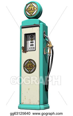Drawings - Vintage gas pump  Stock Illustration gg63125640 - GoGraph