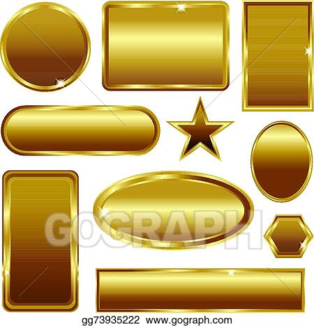 Vector Stock Vintage Gold Frame Vector Banners Clipart