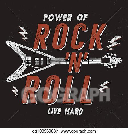 stock illustration vintage hand drawn rock n roll poster retro