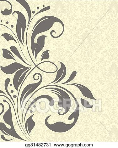 vector art vintage invitation card with ornate elegant abstract