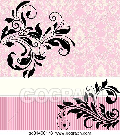 Vector Illustration Vintage Invitation Card With Ornate