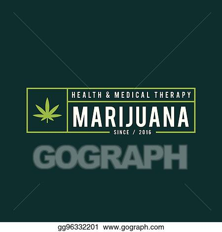 Vector Illustration - Vintage marijuana label design