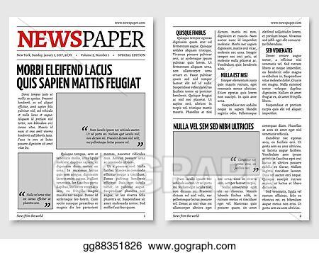 Vector Clipart Vintage Newspaper Journal Vector Template
