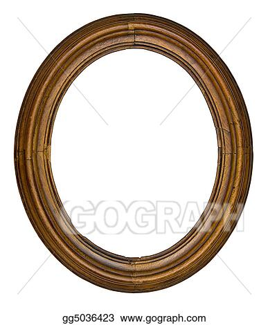 Stock Photography - Vintage oval frame. Stock Photo gg5036423 - GoGraph