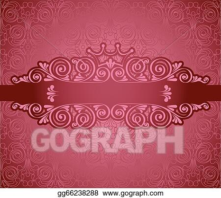 vector illustration vintage pink frame on background stock clip art gg66238288 gograph gograph