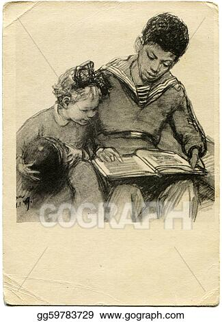 Drawing - Vintage postcard  Clipart Drawing gg59783729 - GoGraph