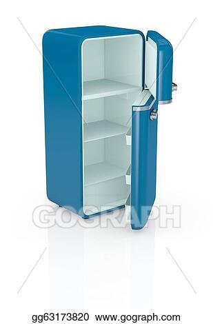 Clip Art Vintage Refrigerator Stock