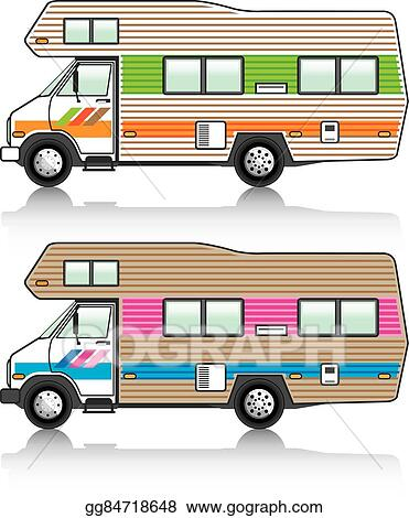 vector art vintage rv clipart drawing gg84718648 gograph rh gograph com rv clip art images rv clipart black and white