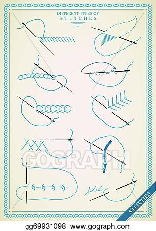 Vector Art Vintage Stitch Type Vector Clipart Drawing Gg69931098