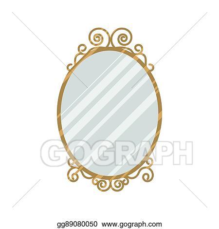 8419fdc980b8 Vector Illustration - Vintage style mirror vector illustration. EPS ...
