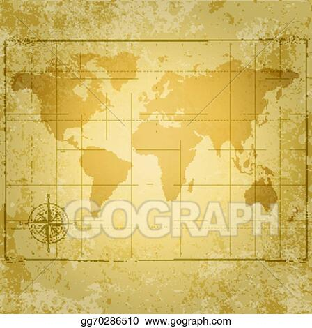 Eps vector vintage vector world map with compass stock clipart vintage vector world map with compass gumiabroncs Images