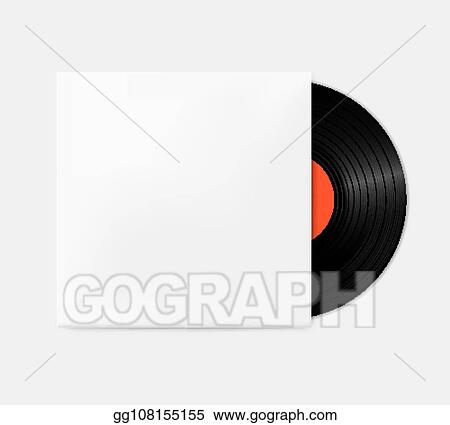 Vintage Vinyl Records Out Of The Box Template Empty Gramophone Cover Mockup