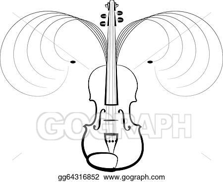 Vector Illustration Violin Symbol Of Classical Music Eps Clipart