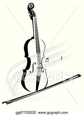 vector art violin clipart drawing gg87703232 gograph