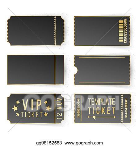 Vector Illustration Vip Ticket Template Vector Empty Black
