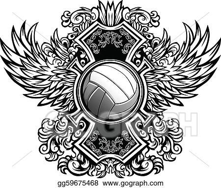 Volleyball Template Clip Art - Royalty Free - GoGraph