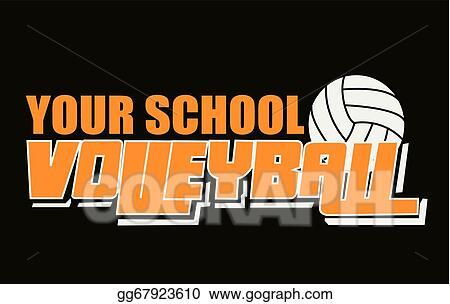 eps vector volleyball spirit wear stock clipart illustration rh gograph com school spirit wear clipart Spirit Wear Designs