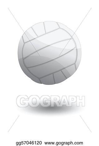 Vector Art Volleyball Vector Illustration Clipart Drawing