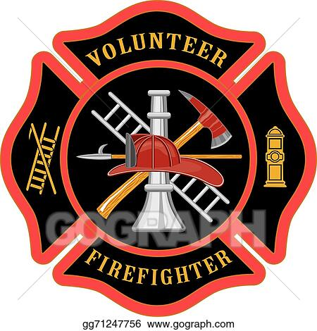 vector art volunteer firefighter maltese cross clipart drawing rh gograph com maltese cross clip art black and white maltese cross clipart