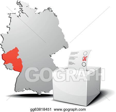 Vector Stock Vote Germany Rhineland Palatinate Stock Clip Art