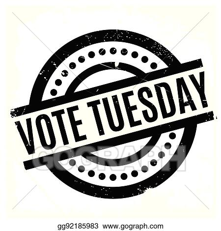 Vote Tuesday >> Vector Art Vote Tuesday Rubber Stamp Clipart Drawing Gg92185983