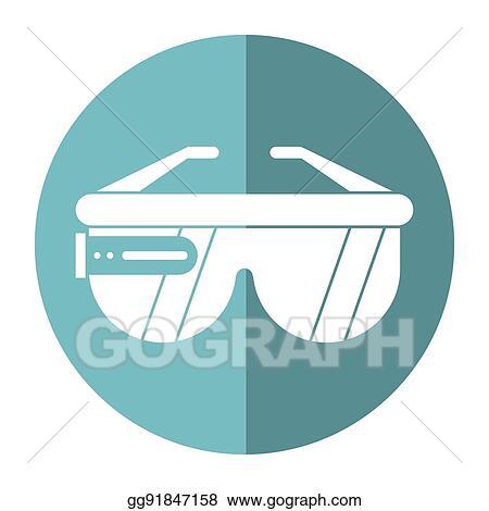 Vector Art - Vr glasses smart technology shadow  EPS clipart