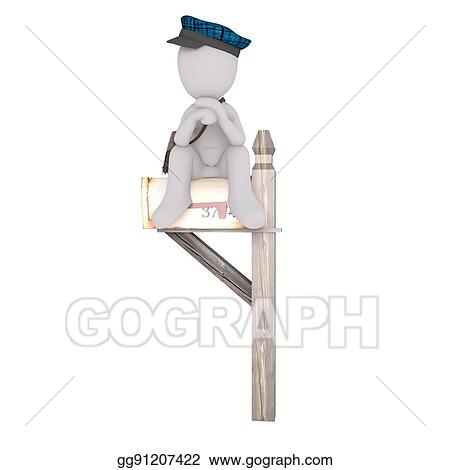 Waiting For Mail >> Drawings Waiting For Mail Concept Stock Illustration Gg91207422