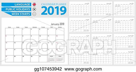January 2019 Calendar Month, Calendar Icons, Month Icons, Calendar PNG and  Vector with Transparent Background for Free Download