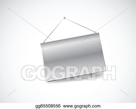 vector stock wall hanging blank template banner stock clip art