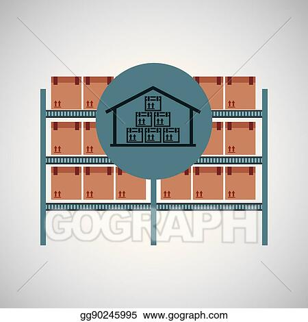 Warehouse And Storage Compositions Set - Download Free Vectors, Clipart  Graphics & Vector Art