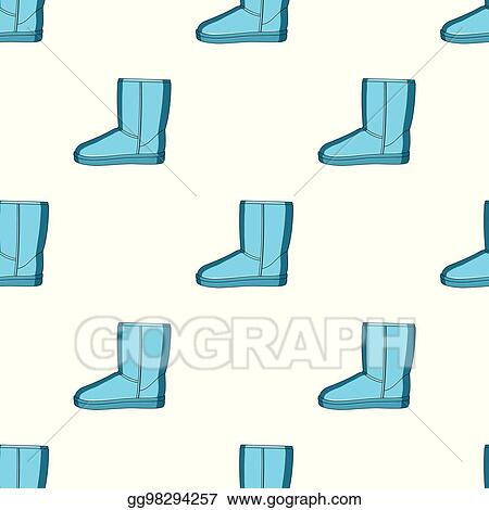 4c9b38bff0 EPS Illustration - Warm winter blue ugg boots. comfortable winter ...