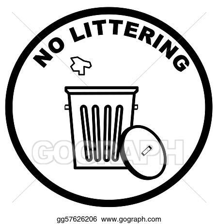 Stock Illustration Warning Sign Of No Littering Clipart