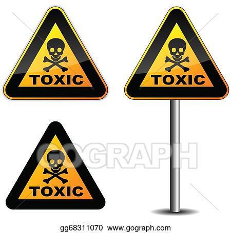 vector illustration warning toxic sign eps clipart gg68311070