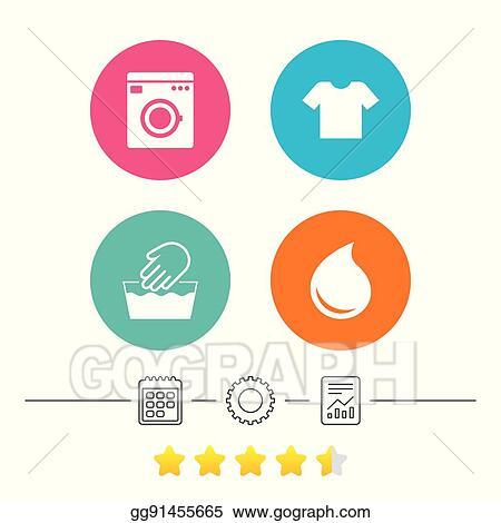 Vector Art Wash Icon Not Machine Washable Symbol Eps Clipart