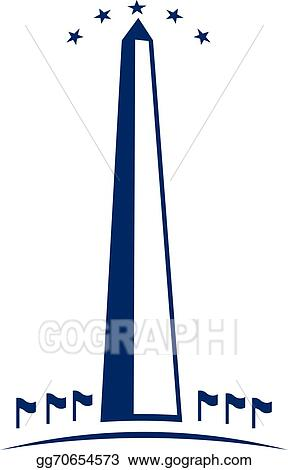 vector illustration washington monument image logo stock clip art rh gograph com