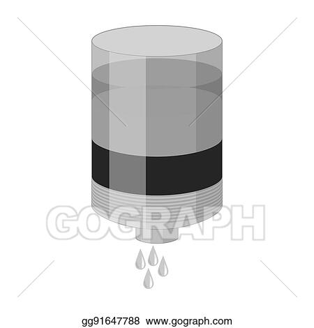 Stock Illustration Water Filter Cartridge Icon In Monochrome Style